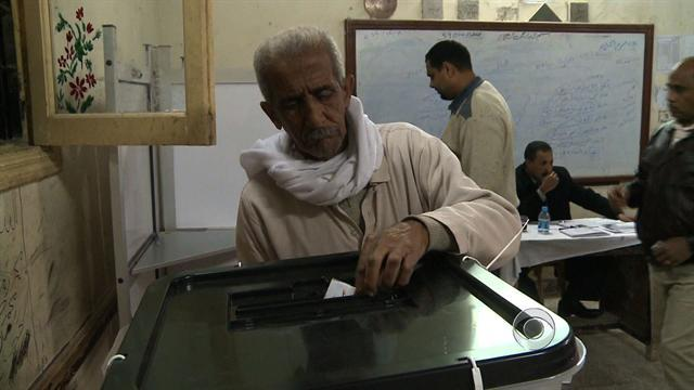 Egyptians vote on a controversial constitutional referendum