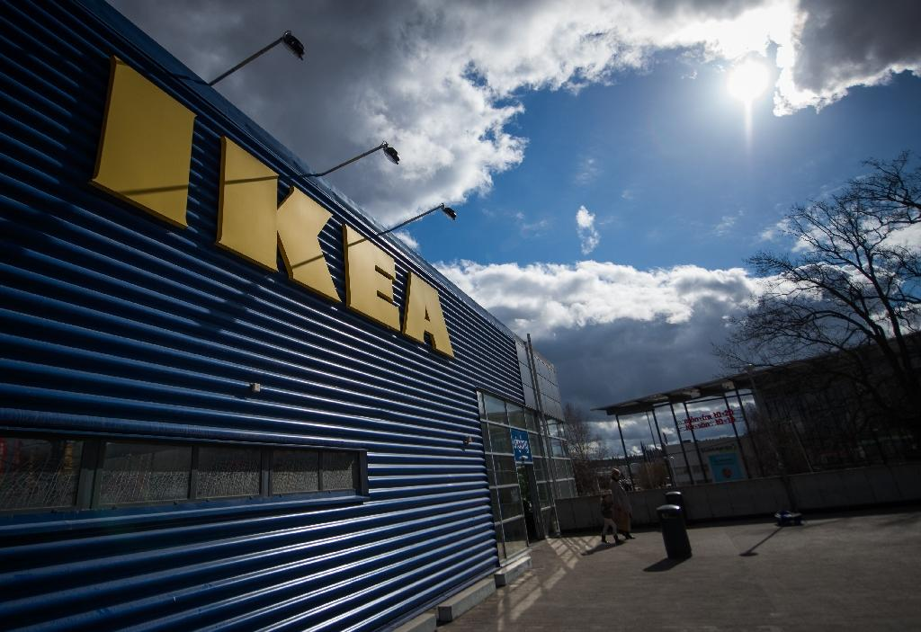 Ikea revolutionised furniture as trendy, affordable and disposable items -- can it transition to a more eco-friendly future? (AFP Photo/JONATHAN NACKSTRAND)