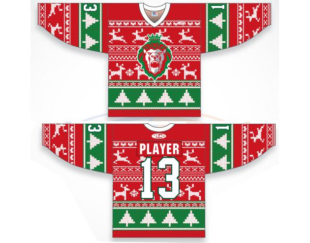 Christmas Jerseys.Behold The Reading Royals Ugly Christmas Sweater Jerseys Photo