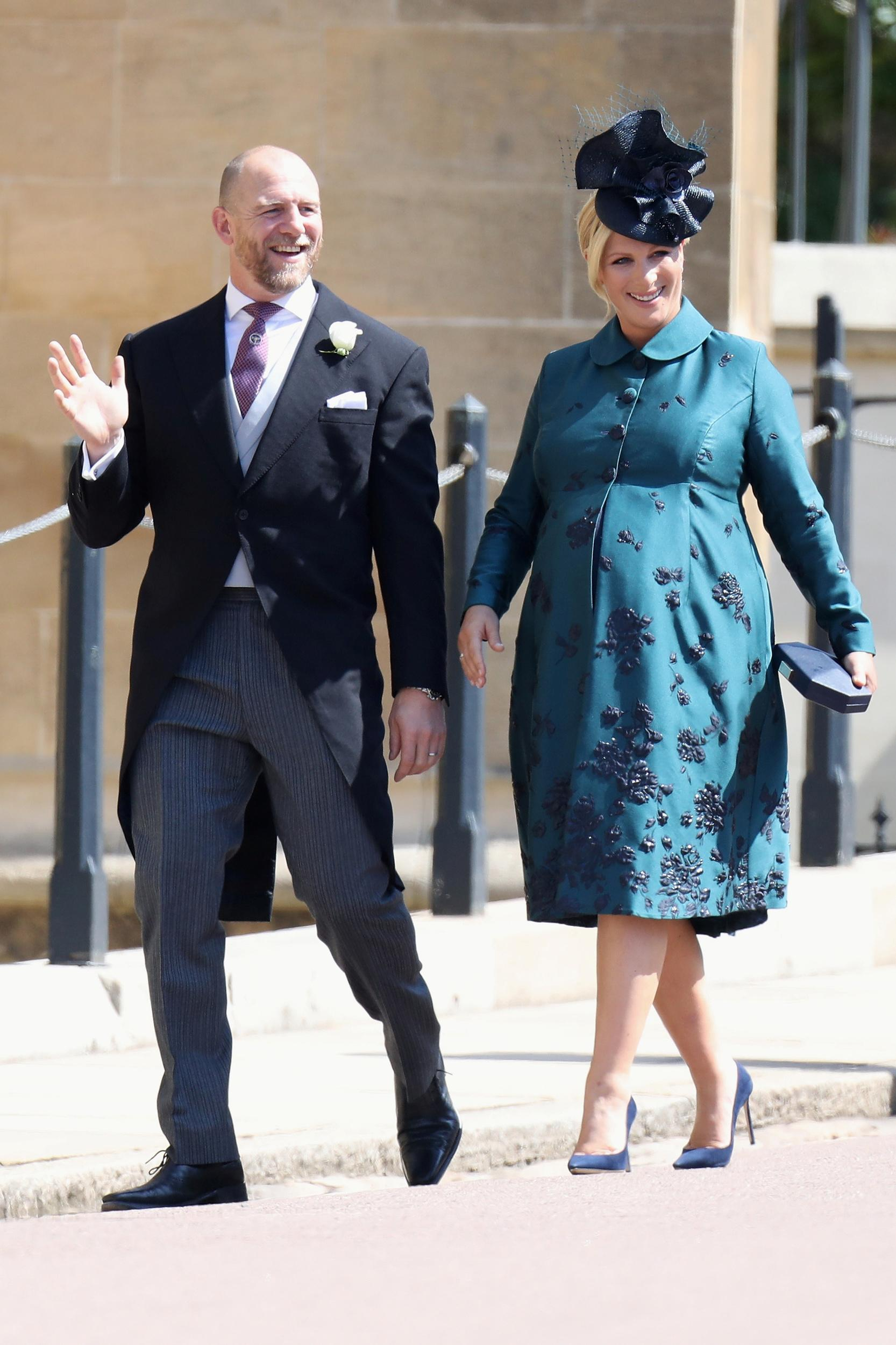 Mike and Zara Tindall attend the wedding of Prince Harry to Ms Meghan Markle at St George's Chapel, Windsor Castle on May 19, 2018 in Windsor, England. Prince Henry Charles Albert David of Wales marries Ms. Meghan Markle in a service at St George's Chapel inside the grounds of Windsor Castle. Among the guests were 2200 members of the public, the royal family and Ms. Markle's Mother Doria Ragland. Chris Jackson/Pool via REUTERS
