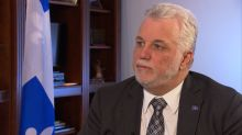 Philippe Couillard talks debunked mosque report, learning lessons from Valérie Plante