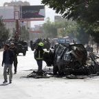 Afghan official: bombs hit 2 minivans in Kabul, 7 dead