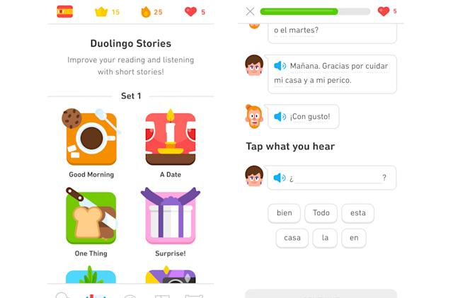 Duolingo adds short stories to its language-learning iPhone app