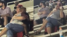 Heartwarming photo of two strangers at a football game goes viral