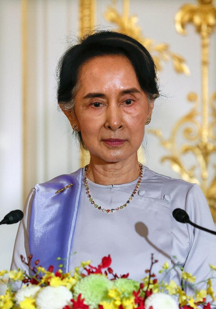 The resurgence of violence in western Rakhine in Myanmar has deepened and complicated a crisis that already posed a critical challenge to the new administration led by democracy activist Aung San Suu Kyi, seen November 2, 2016 (AFP Photo/Kimimasa Mayama)