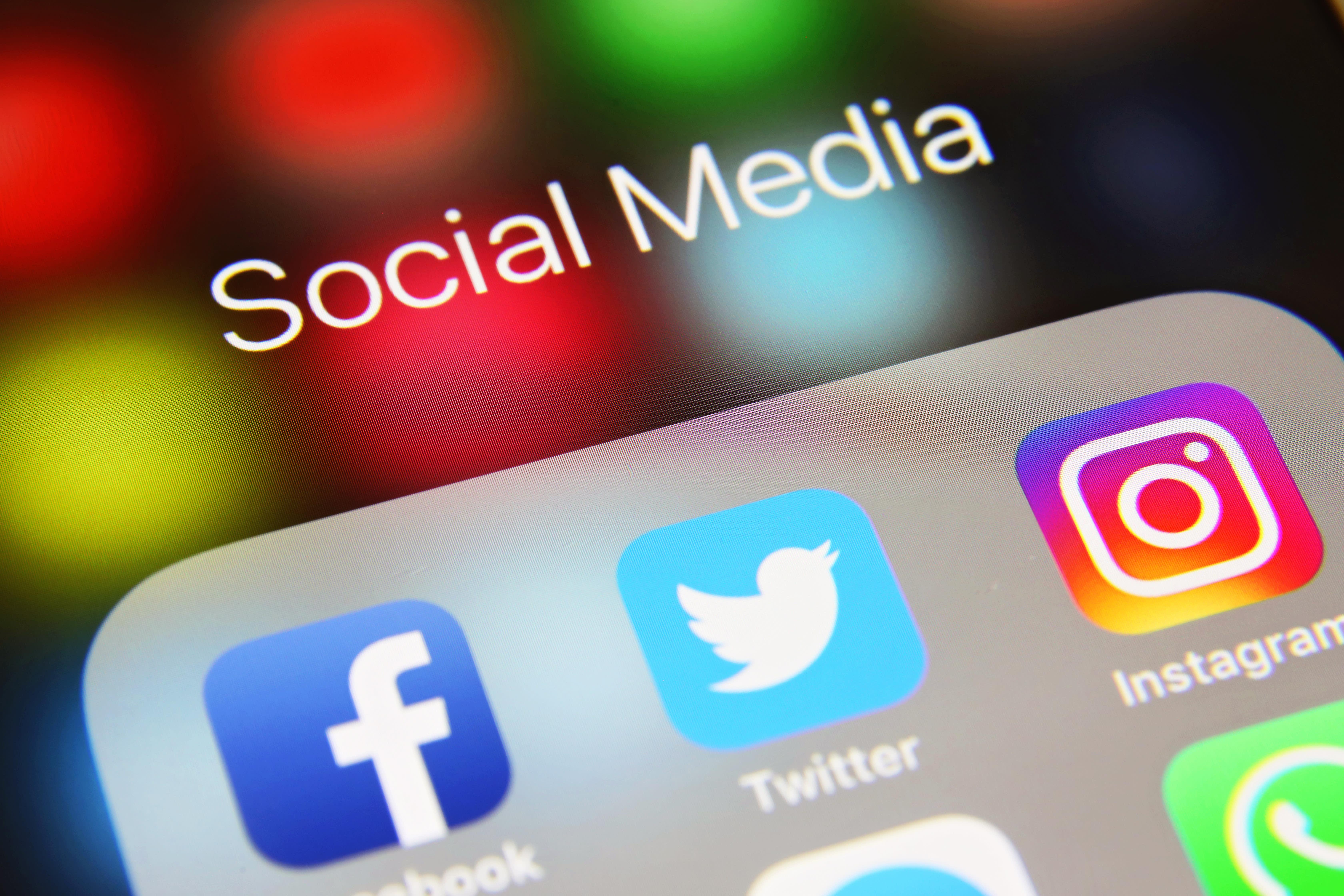Social media icons internet app application