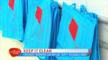 Checkout workers can refuse 'dirty' reusable bags