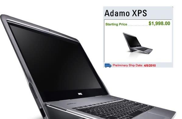 Dell Adamo XPS alive and kicking, back for order on Dell.com