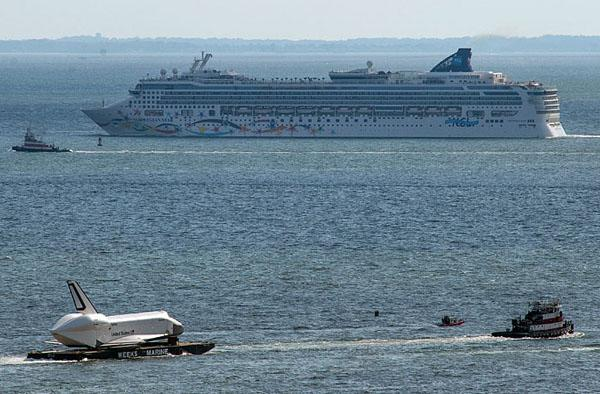Visualized: Enterprise cruises around Jersey on its air, land and sea triathlon