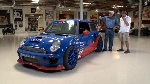 twin-engine, 500-hp mini cooper gets the jay leno treatment