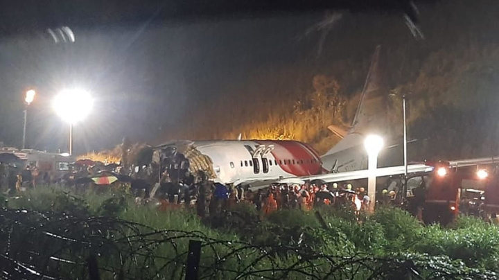 Deadly crash after plane skids off runway in India