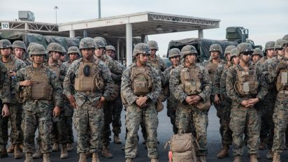 Trump: Border troops to stay 'as long as necessary'
