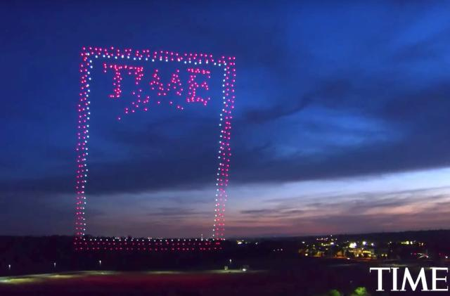 The latest cover of 'Time' is composed of 958 Intel drones