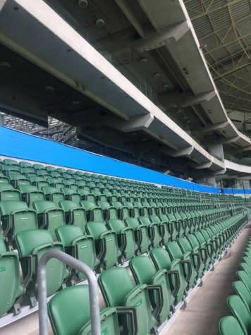 Por regra da Libertadores, Allianz Parque tem nome tampado em placas