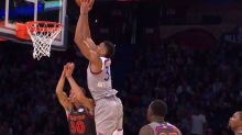 Stephen Curry could not avoid Giannis Antetokounmpo's ruthless dunks forever