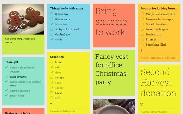 Google updates Keep web app, goes overboard with the Santa references