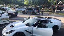 Where did cops say the stolen Corvette that went 150 mph wind up? Publix, of course