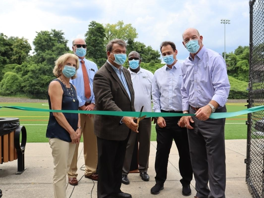 Westchester County held a ribbon-cutting ceremony putting four renovated soccer fields back in play.