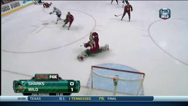 Josh Harding flashes the glove on Pavelski