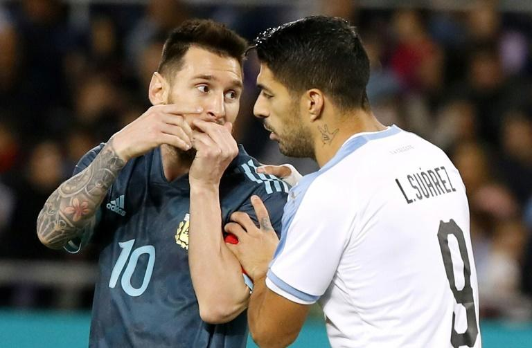 Opponents: Lionel Messi and Luis Suarez haver faced each other in internationals