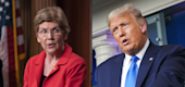 Sen. Elizabeth Warren/President Trump (Yahoo TV)
