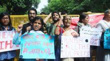 Encephalitis deaths: Police detains protestors outside Bihar Bhawan in Delhi