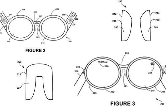 Google patents an electronically-controlled Project Glass nose bridge for Sergey's comfort