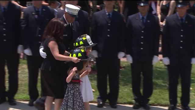 Thousands Say Goodbye To Fallen Hero At Firefighter`s Funeral