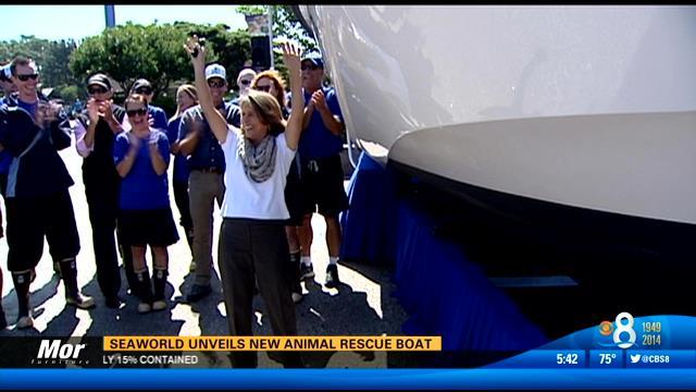 SeaWorld unveils new animal rescue boat