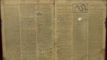 A rare colonial-era newspaper was dropped in a New Jersey Goodwill bin, and you can't afford it, honey