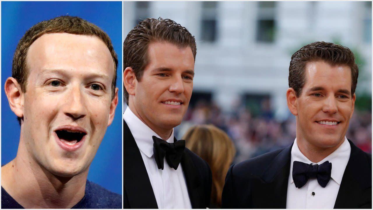 It's Water Under the Bridge as Zuckerberg & Winklevii Talk Crypto: Report