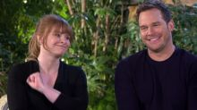 Watch Chris Pratt and Bryce Dallas Howard try (and fail) to pronounce ridiculously hard dinosaur names