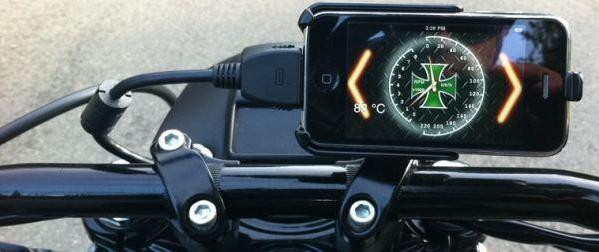 GaugeFace iPhone dock displays your Harley's data on a 3.5-inch touchscreen