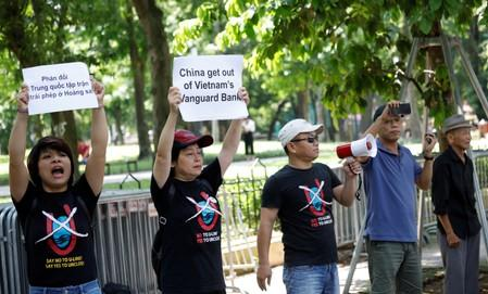 Vietnam police disperse protest at Chinese embassy over South China Sea standoff