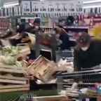 Masked Shoppers Clear Shelves in Codogno as Coronavirus Grips Italy
