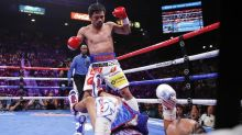 Manny Pacquiao wins WBA welterweight title after stunning victory over Keith Thurman in Las Vegas