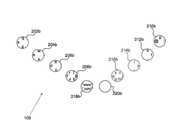 Google files patent application for touch-based, full-finger keyboard layout