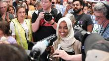 Ilhan Omar gets standing ovation at town hall after Trump attacks