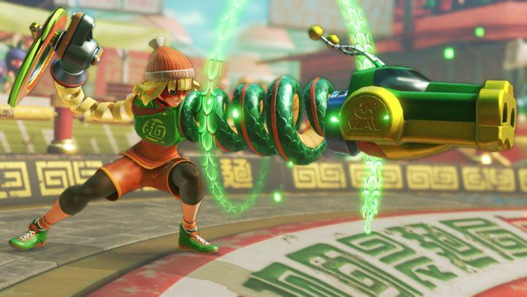 Arms character's dragon head fist.
