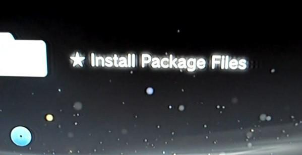 PS3 custom firmware lets you 'Install Package Files,' piracy not allowed