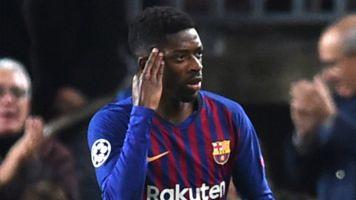 La reivindicativa celebración de Dembélé contra el Tottenham