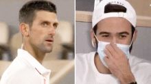 Novak Djokovic in ugly exchange with Roger Federer fan