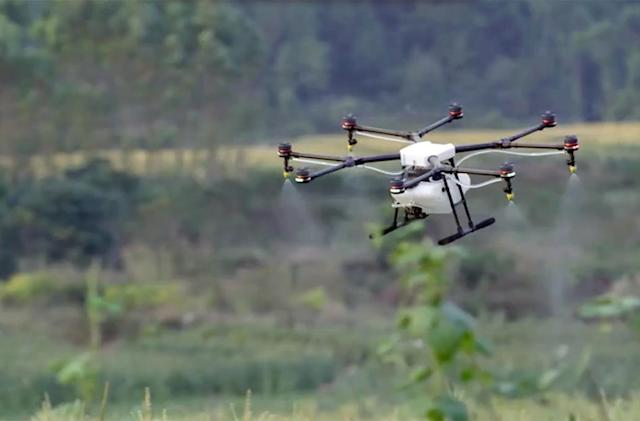 DJI's MG-1 drone is water-resistant, dustproof.. and made for farming
