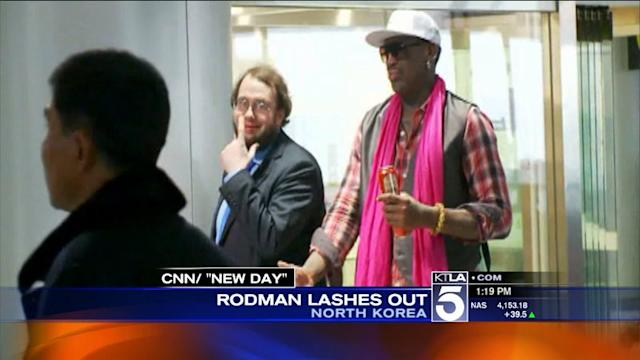 Rodman Lashes Out During CNN Interview