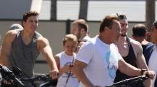 Twins! Arnold Schwarzenegger's son Joseph Baena has inherited dad's muscles