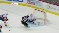 MacKinnon flies past the defense for the goal