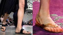Chinelo chique: calçado chama atenção em desfiles de alta-costura