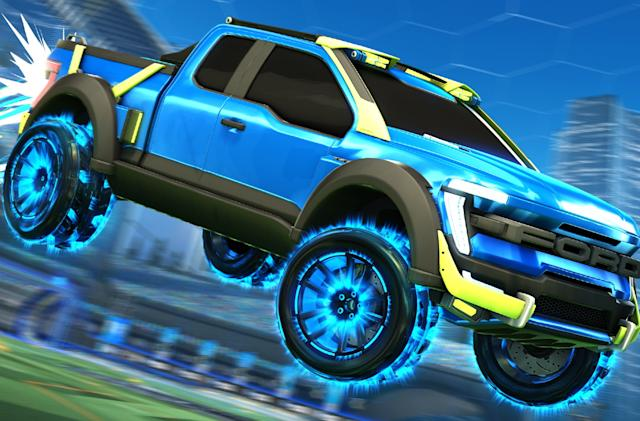 Ford made a garish version of the F-150 for 'Rocket League'
