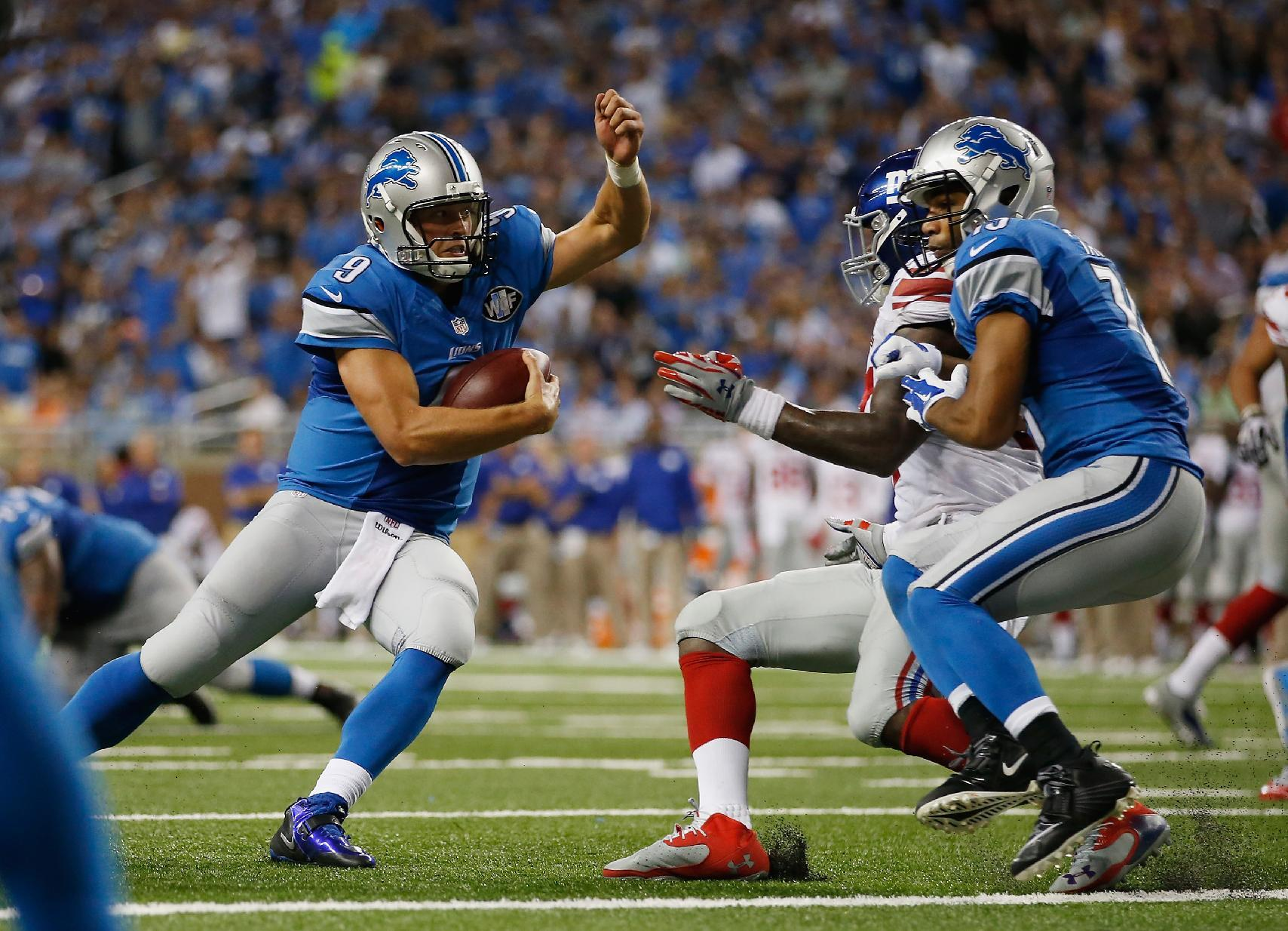 Lions Rout Giants Cardinals Edge Chargers In Nfl Openers