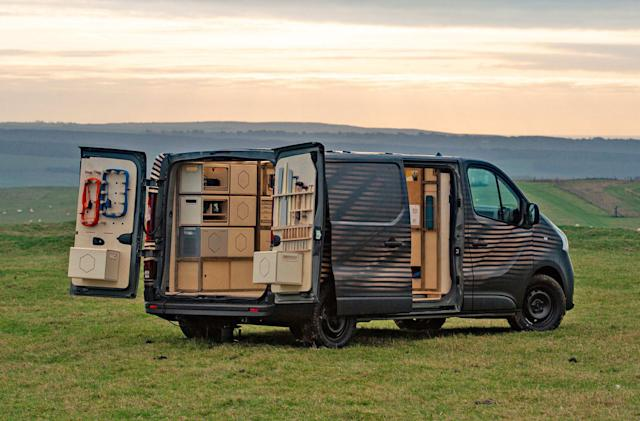 Nissan concept van includes an all-electric carpentry shop